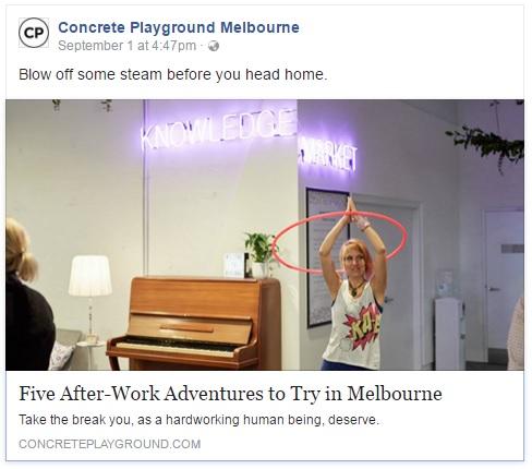 Concrete Playground Article on Donna Sparx Melbourne hula hoop teacher