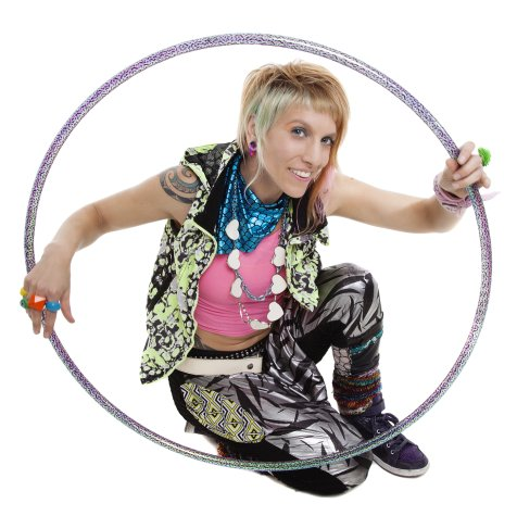 Donna Sparx in her Hula Hoop