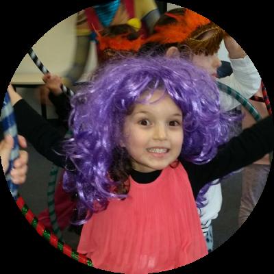 Hula Hoop Kid at her Hula Hoop Kids Party for her 5th birthday