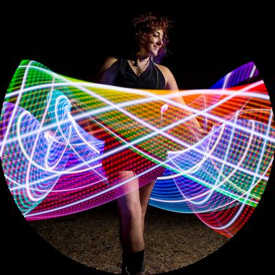 LED Hula Hoop Performer