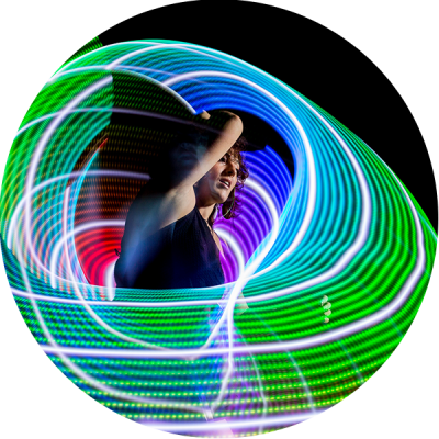 LED Hula Hoop Performer
