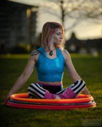 Donna Sparx hula hooping