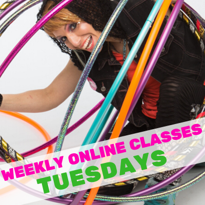 LIVE ONLINE Hula Hoop Dance: All Levels – Tuesday