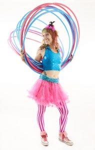 Donna Sparx with HOop Sparx hula hoops