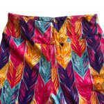 PINK FEATHER LEGGINGS - HIGH WAISTED | Hoop Sparx