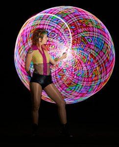LED roving performer - unique bar bat mitzvah party entertainment | Hoop Sparx